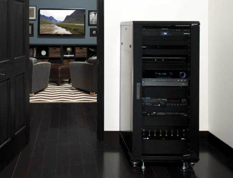 "Sanus CFR2127, 55"" Tall 27U AV Rack"