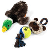 24Seven Wellness and Living Adorable Pack of Squeaky Dog Toys This Value Packed Bundle Includes 3 Soft Plush No Stuffing Toys with Squeakers Plus 1 Stuffed Duck and a Cute Tug Rope and Ball Toy