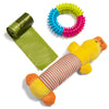 24Seven Wellness and Living Pack of 12 Dog Toys-Chew Toys for Teething Puppies and Dogs Who Love to Play-Have Fun With Your Puppy with Tug Rope Toys-Frisbee-Squeak Toy-IQ Ball and Tough Chewing Ball