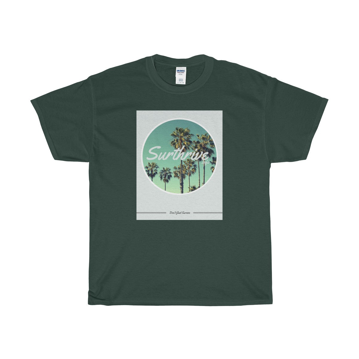 """Surthrive Palm Trees"" Unisex Heavy Cotton Tee"