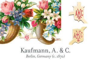 Kaufmann, A. & C. scrap reliefs publisher's mark, Berlin, Germany
