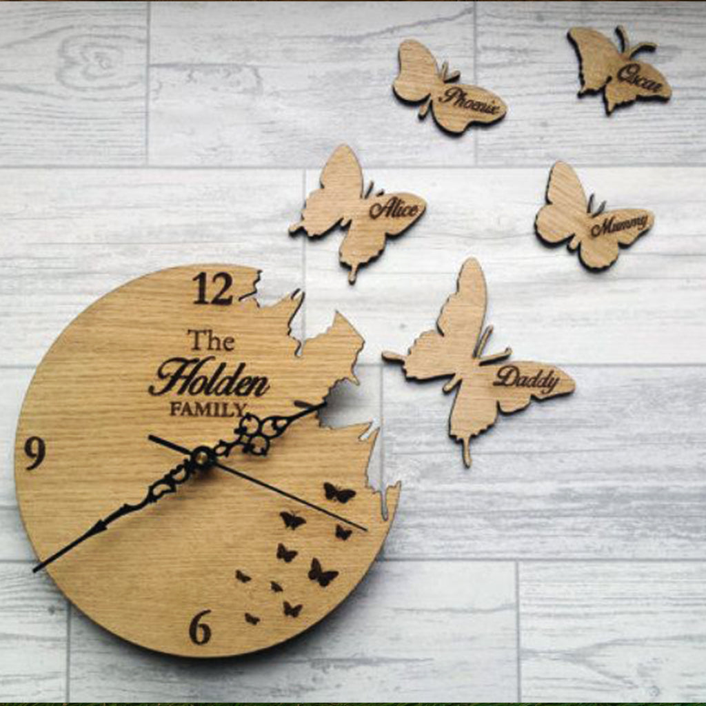 Fly Away Birds Clock