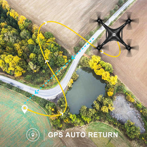 Holy Stone GPS FPV RC Drone HS100 with Camera Live Video and GPS Return Home Quadcopter with Adjustable Wide-Angle 720P HD WIFI Camera- Follow Me, Altitude Hold, Intelligent Battery Long Control Range