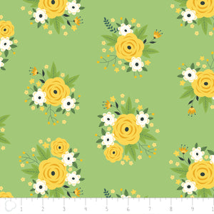 Bright Side - Floral in Pistachio