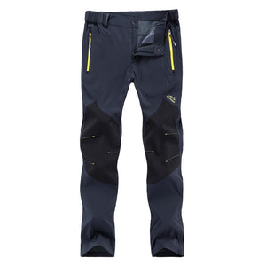 WWKK Outdoor Mountain,Hiking, Fishing and  Tactical Waterproof Pants Quick Dry Trekking Trousers