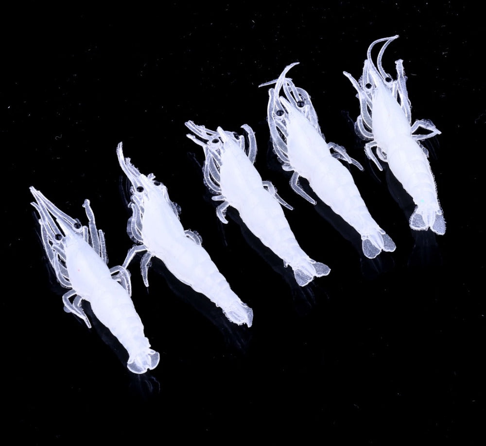 1pc 45mm small bionic Soft lure isca artificial Luminous Prox Prawn Shrimp Fishing lure Floating good crankBait 1pc