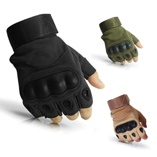 Hard Knuckle Half-Gloves