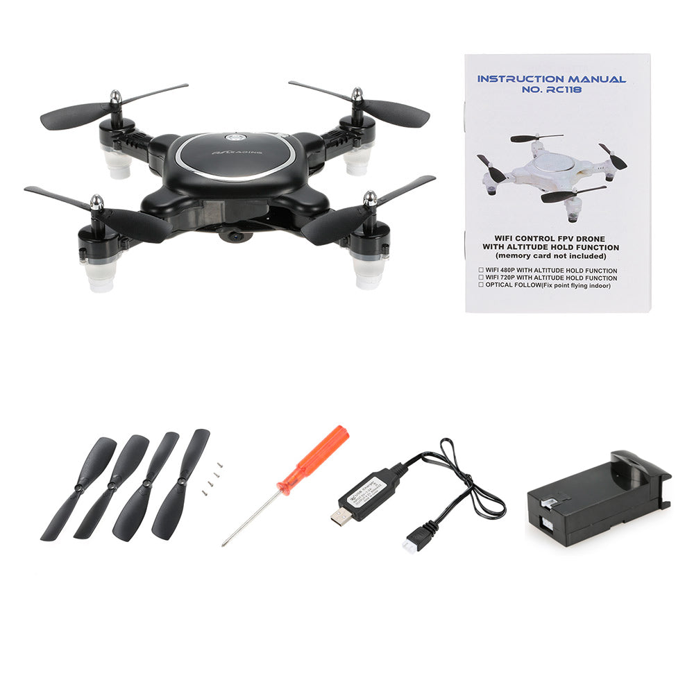 720P HD Camera Drone RC Qudcopter Wifi FPV Foldable Selfie Drone Optical Flow G-Sensor Mini Dron Helicopter Phone Control