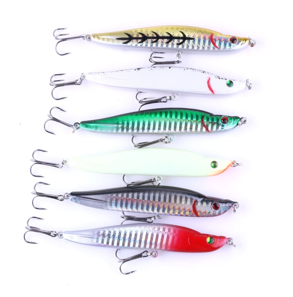 9.5cm 16g 8#hook Pike Pencil Fishing Wobblers Top Water Minnow Fishing Lure bass catfish carp bass panfish trout walleye tilapia