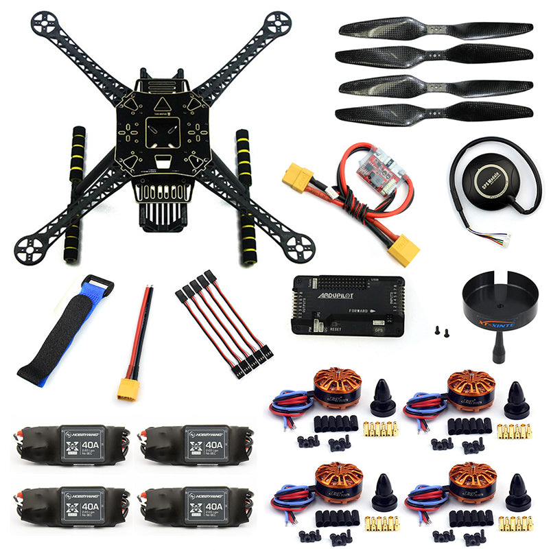DIY RC FPV Drone S600 4-Axle Frame Kit with APM 2.8 Flight Control 40A ESC 700KV Motor GPS XT60Plug F19457-F