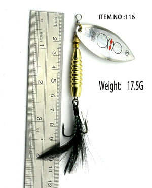 HOT NEW 2017 24 model Spinner Spoon Fishing Lure Spinner bait Metal Hard FISHING Lure bass panfish trout walleye tilapia