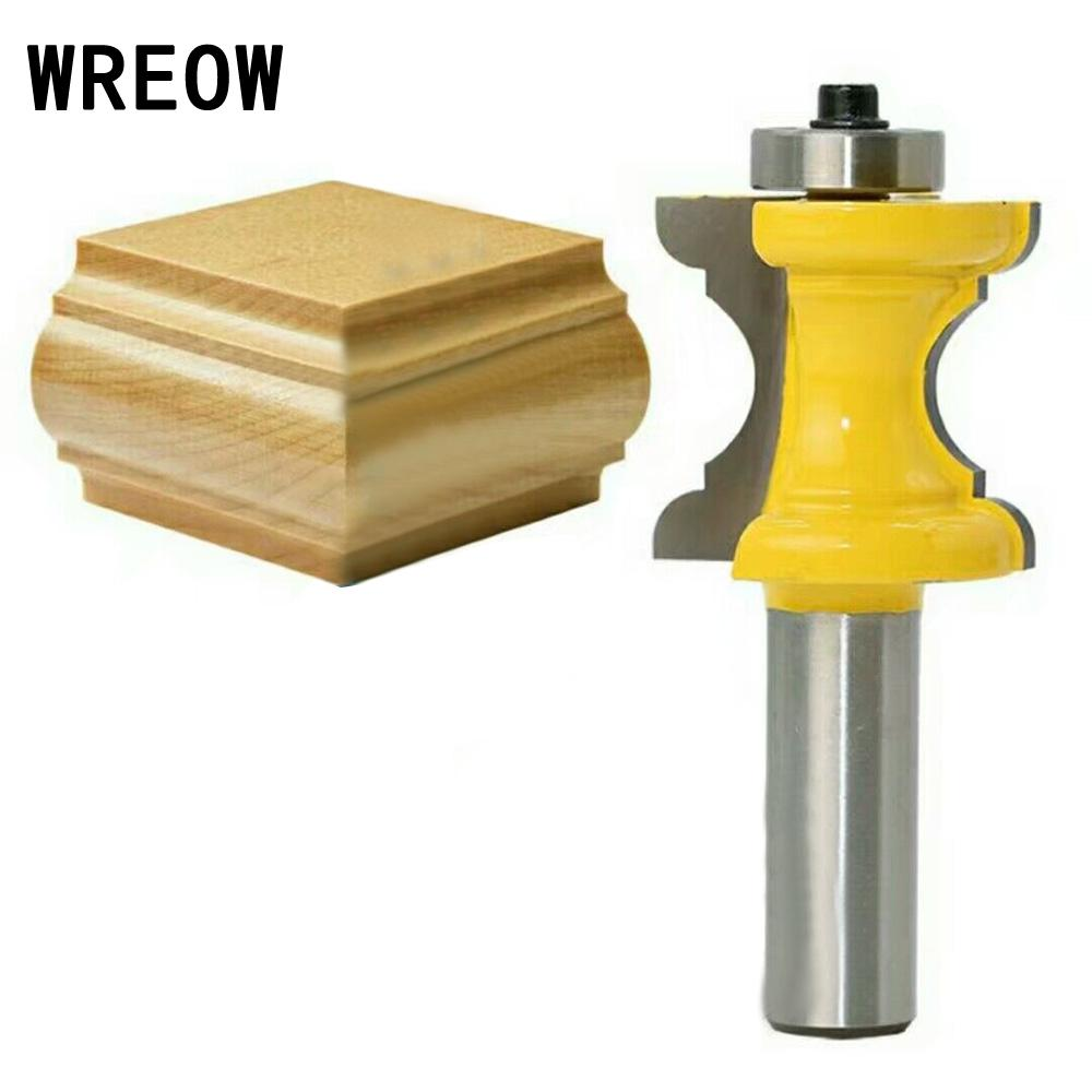 Cutting Milling 1/2 Shank Bullnose Bead Column Face Trim Milling Cutter Router Bit Wood Hole Saw Woodworking Tool