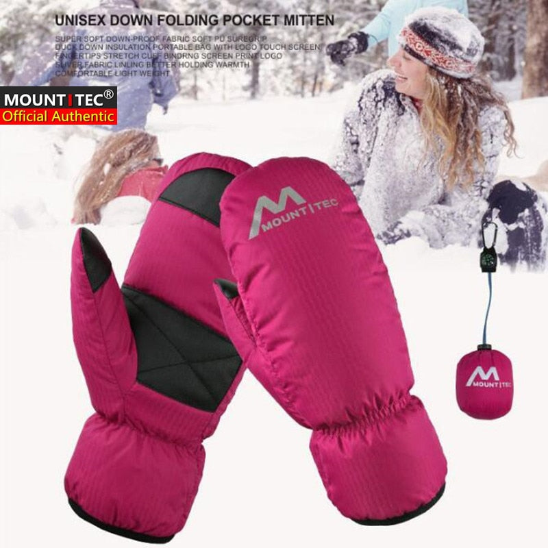 MOUNTITEC Unisex Duck Down Mittens Winter Waterproof Windproof Touch Screen Ski Gloves