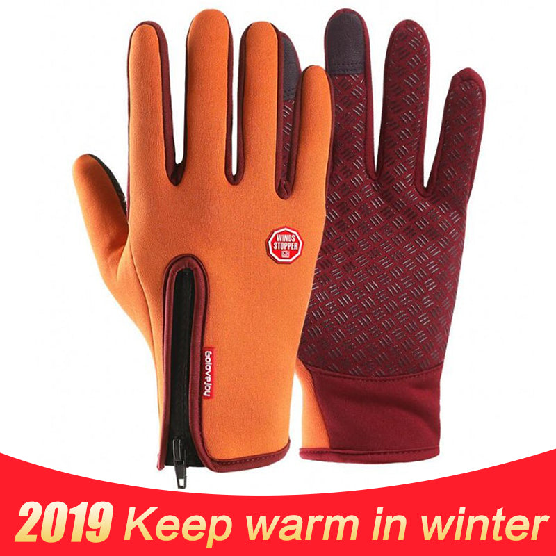 2018 Outdoor Waterproof Touch Screen Gloves Men's Windproof Riding Women's all-around Sports Winter Warm Fleece Ski Mountaineer