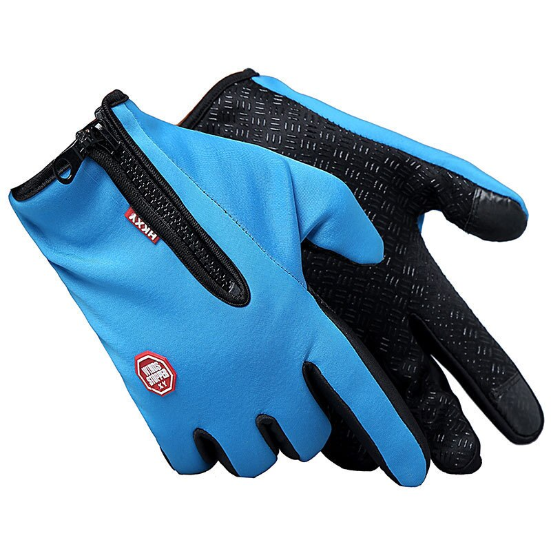 Gloves for men and women in winter outdoor sport riding gloves warm windproof gloves finger waterproof touch screen