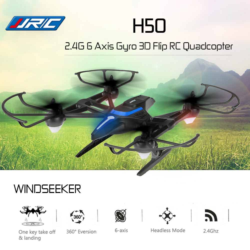 JJR/C JJRC Drone H50 Windseeker 2.4G 6 Axis Gyro 3D Flip Altitude Hold Speed Adjustment RC Quadcopter Selfie Drone Toys