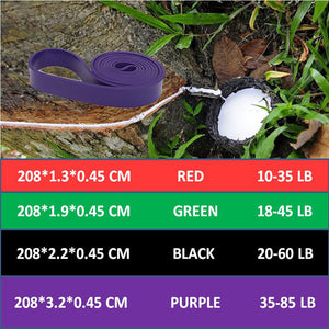 Natural Latex Pull Up Physio Resistance Bands Fitness CrossFit Loop Rubber Band Bodybulding Yoga Exercise Fitness Loop 208cm