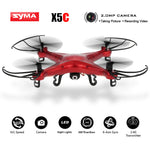 Original  X5C Red Custom Version Quadcopter 2.4GHz 4CH 6-Axis RC Aircraft Drone with 2.0MP HD FPV Camera 360 Eversion Brand Dron