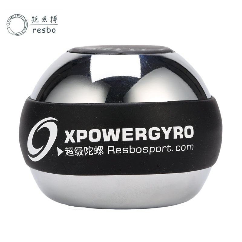 RESBO 48LBS Power Wrist strengthen Ball Metal Forearm Muscle Training Pressure Relieve Gyro Ball Gyroscope Exerciser Force Ball