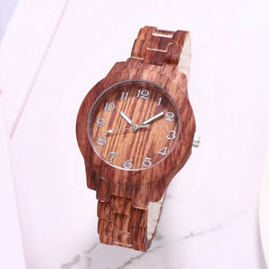 Top Luxury Bamboo Wooden Design Watch Quartz Wristwatch Wooden Design Clock Casual Watch Valentine's Day Xmas New Year Gifts