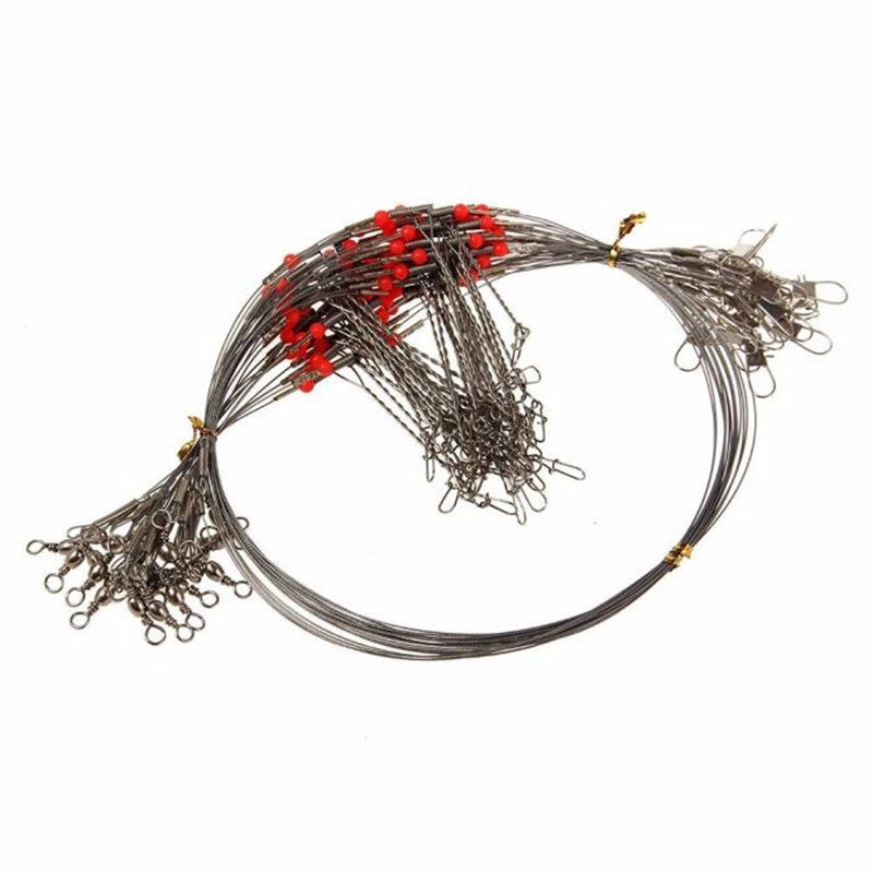 MUQGEW 5 pcs/set 70CM Fishing Lines Trace Lures Leader Steel Wire Spinner