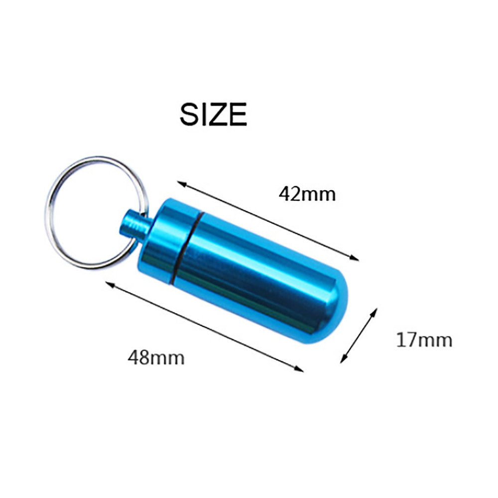 2017 Pill Medicine Box Case Holder Container Capsule Ring Chain Waterproof  Outdoor Travel Multi tools  #EW