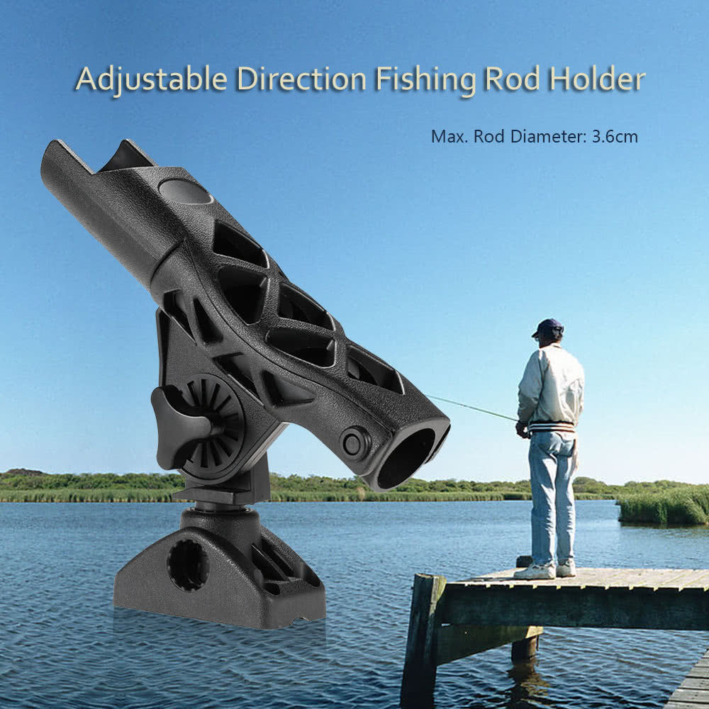 Adjustable Direction Fishing Kayak Canoe Boat Fishing Rod Holder Combo Mount Fishing Tool Tackle