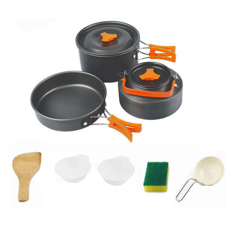 Camping cookware set Outdoor camping tableware cooking set travel tableware Cutlery Utensils For hiking picnic Fishing