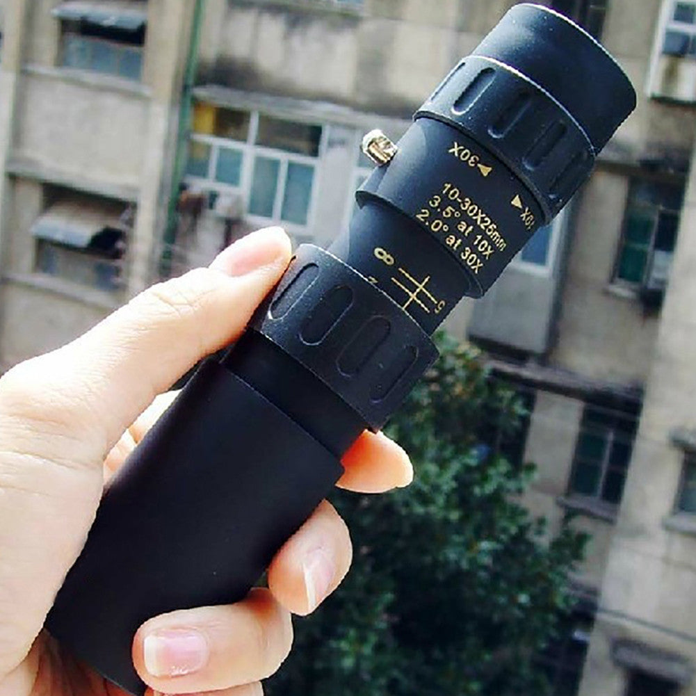 10-30x25 Zoom Optical Monocular Telescope for Outdoor Bird Watching Camping