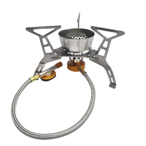 Split Burner Outdoor Folding Gas Stove Camping Hiking Picnic Stove with Igniter Camping Equipment