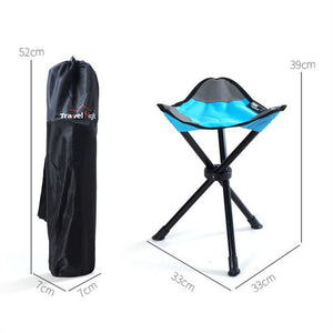 Small Folding Chair Stool Triangle Camping Stool Furniture Beach Chair for Camping Traveling (Blue)