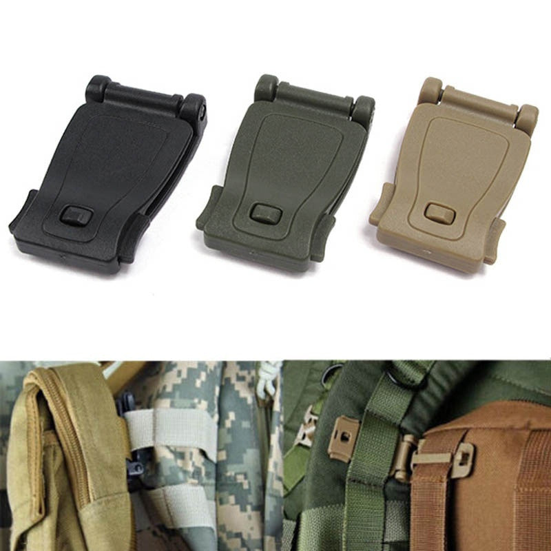 5pcs EDC Gear Army Fans Outdoor Backpack Fixed Buckle Clip Molle Webbing Buckles