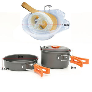 Outdoor Camping Pot  Cooking Kits Portable Hiking Supplies