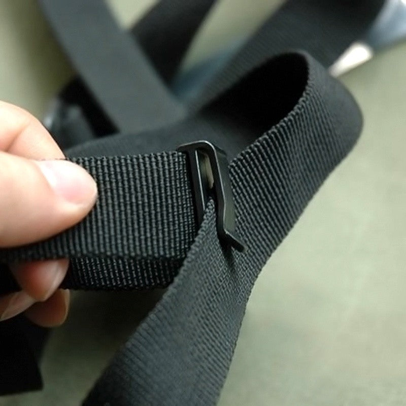 Webbing Ending Clip Quick Slip Keeper Buckle Adjusting Strap Black