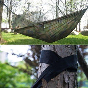 Portable Travel Camping Survival Hammock With Mosquito Net Lightweight Backpacking