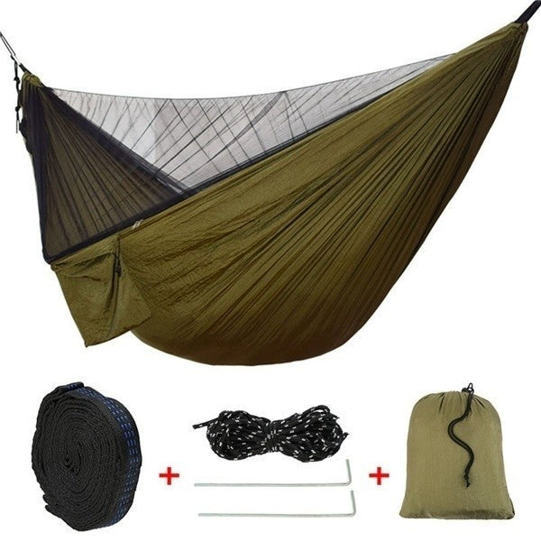 2 Person Camping Hammock With Mosquito Net For Outdoor Travel Hammock For Camping Hiking Backpacking