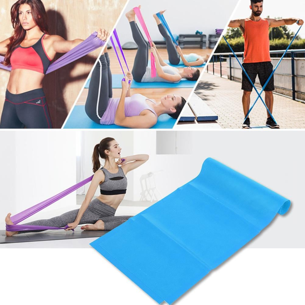 1.8M Fitness Equipment Elastic Exercise Resistance Bands Workout for Yoga