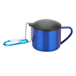 1 PC Portable Lightweight Stainless Steel Drinking Water Cup for Camping