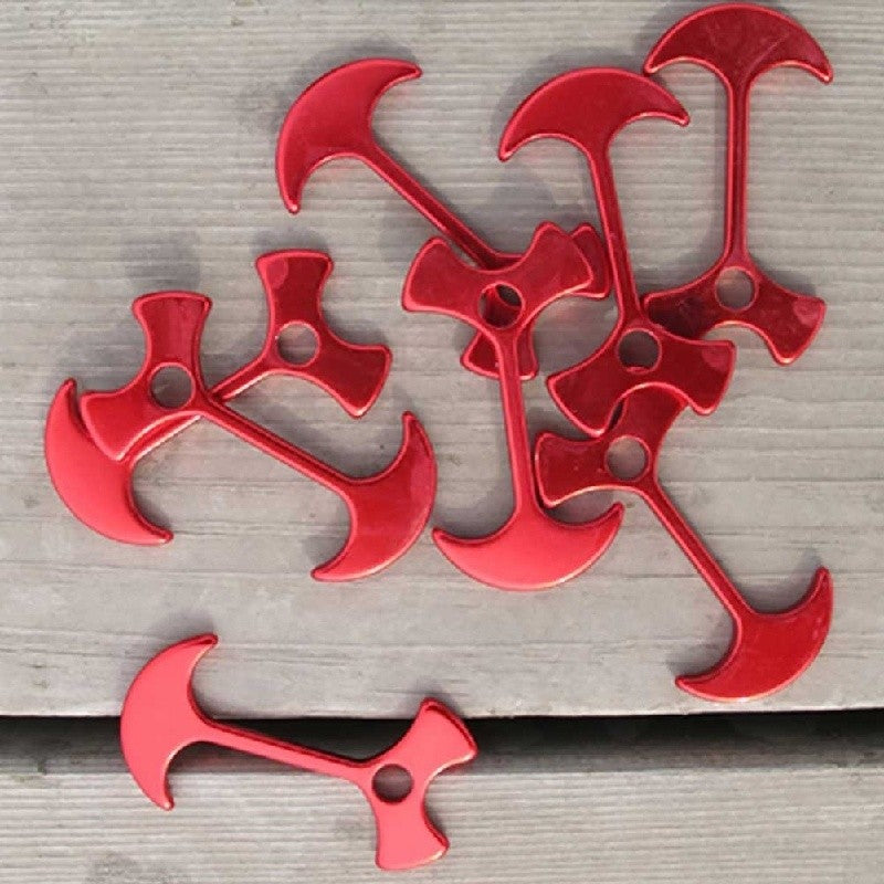 10 pcs Floor Nail Carpas Fiestas Wedding Tent Peg Path Deck Camp Wind Rope Anchor Chains Linked Herringbone Nails Outdoor Tool