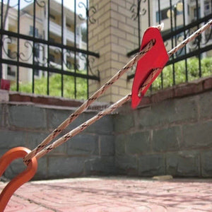 Red Aluminum Alloy Camping Tent Guy Line Rope Tensioners Bent Runners