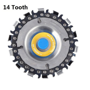 4 Inch Chain Grinder Chain Saws Disc Woodworking Chain Plate Tool Multi-functional Wood Carving Disc Angle Grinding Tool