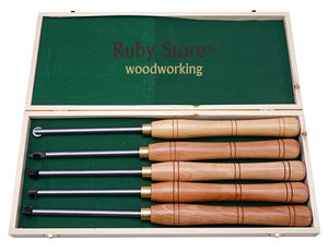 5PCS Carbide Tipped Woodturning Chisel Set