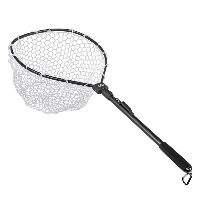 Foldable Aluminum Alloy Folding Fly Triangle Brail Large Nylon Fishing Net Telescopic Portable Fish Casting Trap