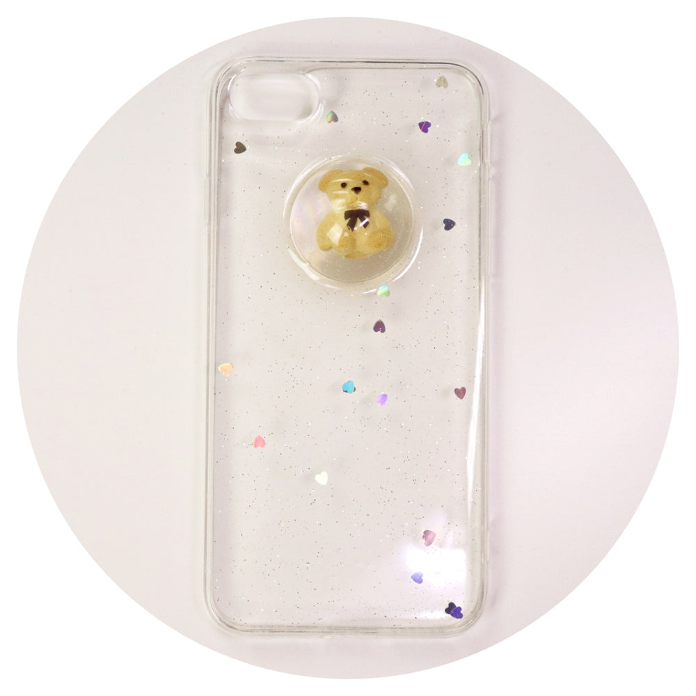 Brown Teddy Bear Clear Iphone Case (8)