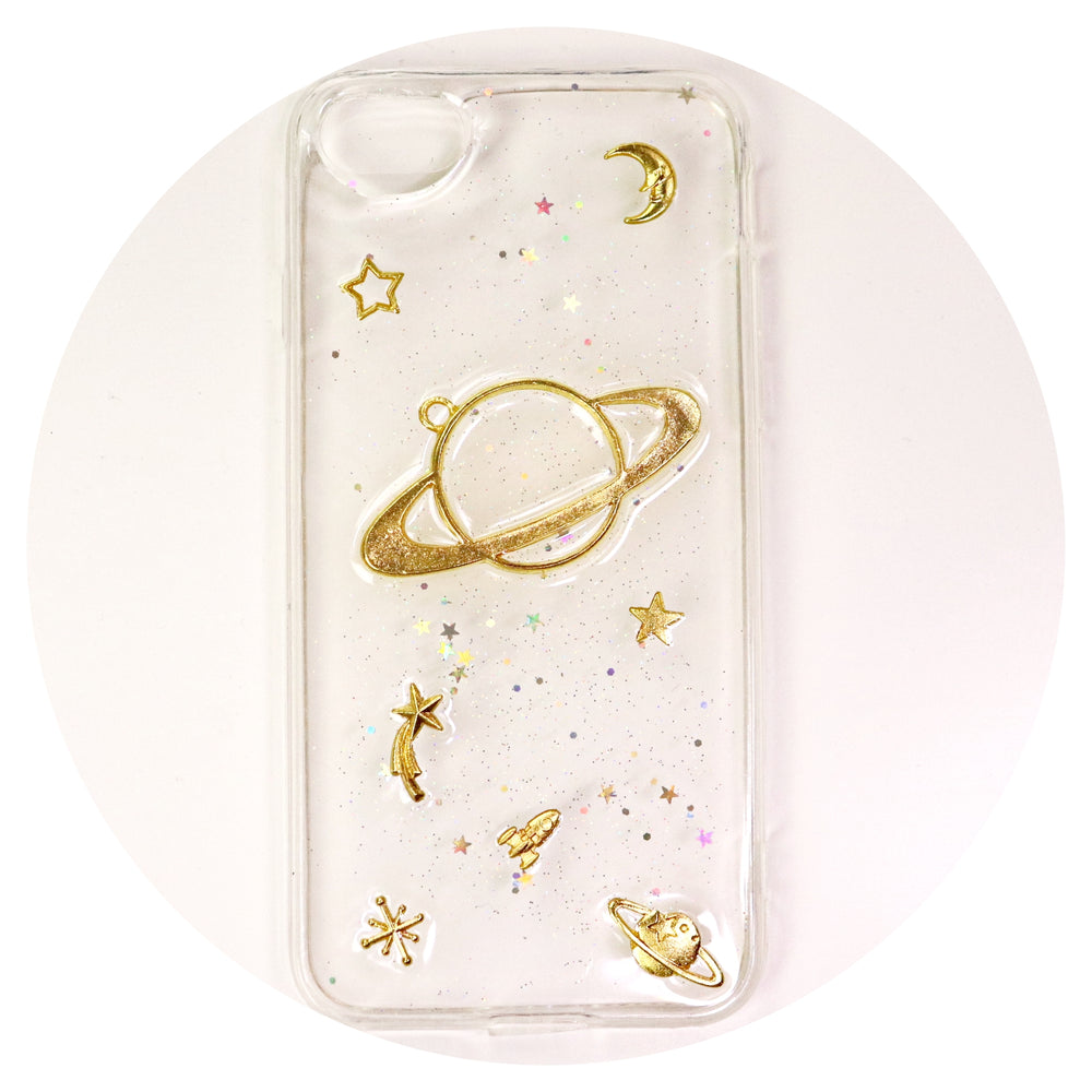 Planet Clear Iphone Case (for 7,8)