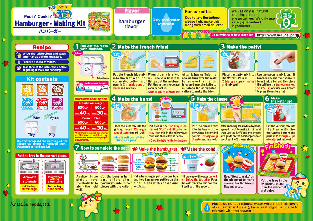 Popin' Cookin' Happy Kitchen Burger Meal Kit