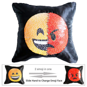 Emoji Sequin Pillow Case