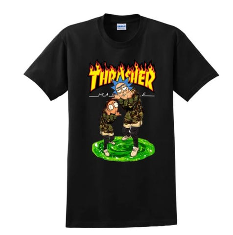 rick and morty thrasher shirt
