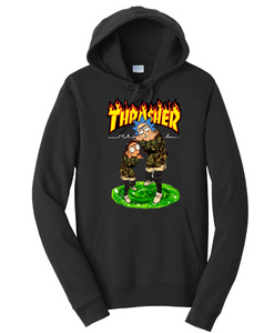 Rick & Morty Thrasher Unisex Hooded Sweatshirt