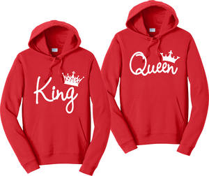 King & Queen Unisex Hooded Sweatshirt